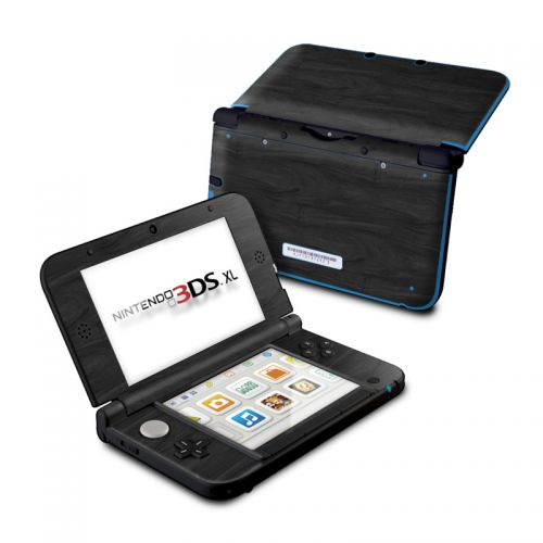 Black Woodgrain Nintendo 3DS XL (Original) Skin