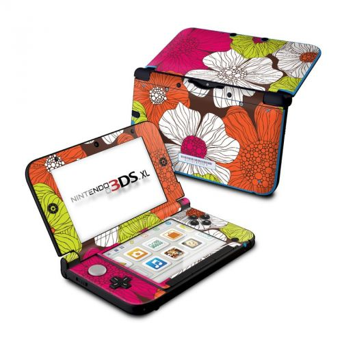 Brown Flowers Nintendo 3DS XL (Original) Skin