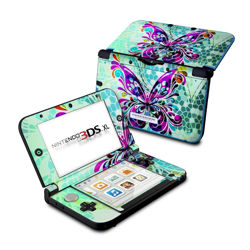 Butterfly Glass Nintendo 3DS XL (Original) Skin