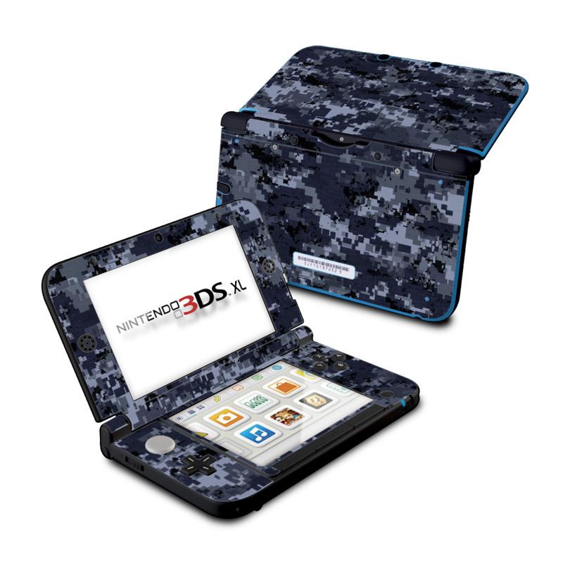 Digital Navy Camo Nintendo 3DS XL (Original) Skin