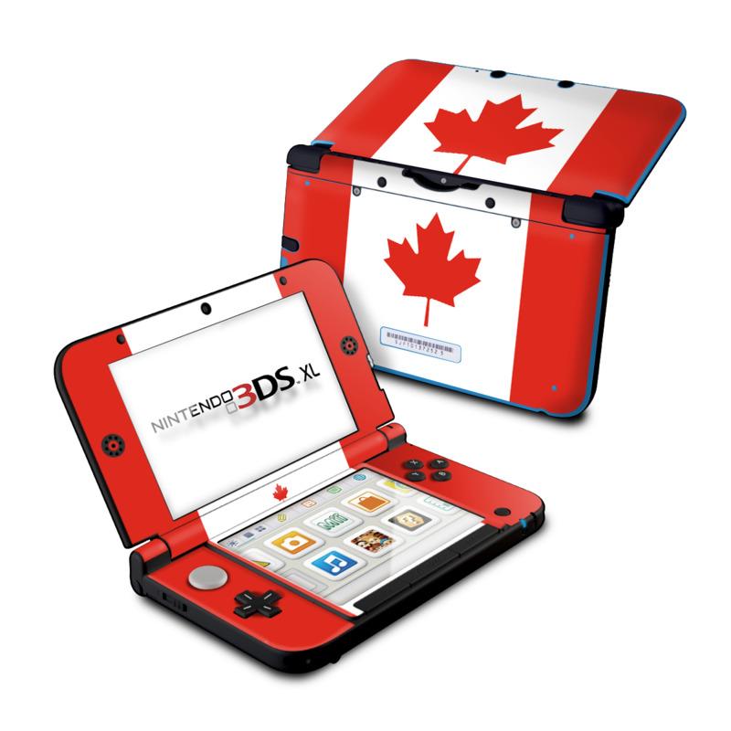 Canadian Flag Nintendo 3DS XL (Original) Skin