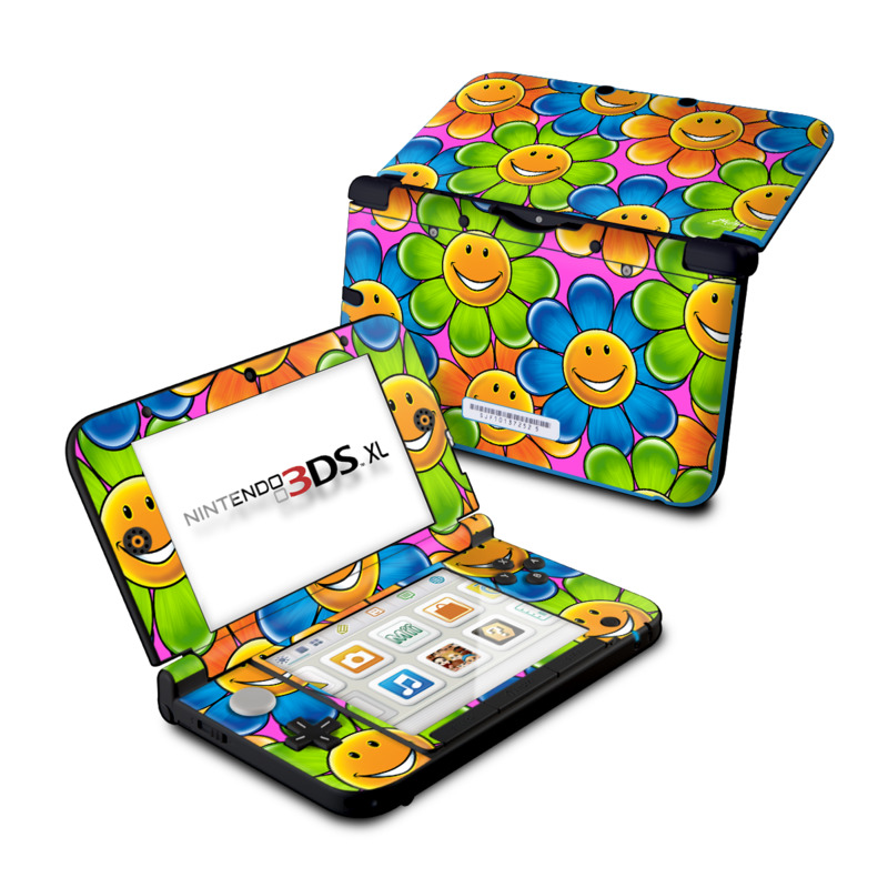 Happy Daisies Nintendo 3DS XL (Original) Skin