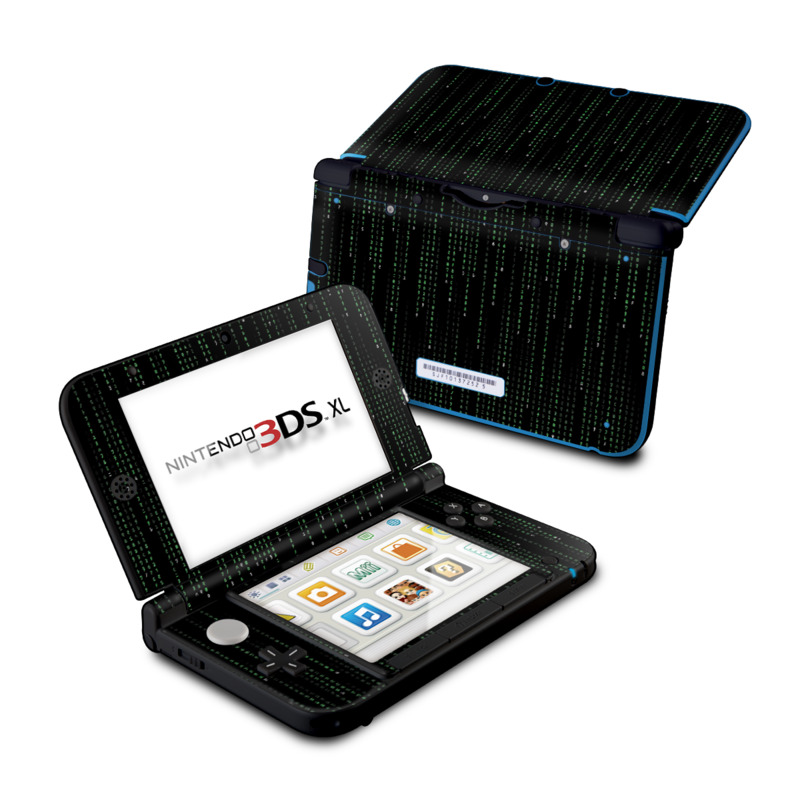 Matrix Style Code Nintendo 3DS XL (Original) Skin