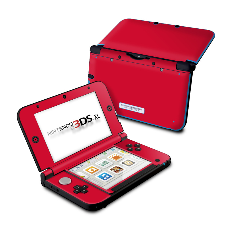 Solid State Red Nintendo 3DS XL (Original) Skin