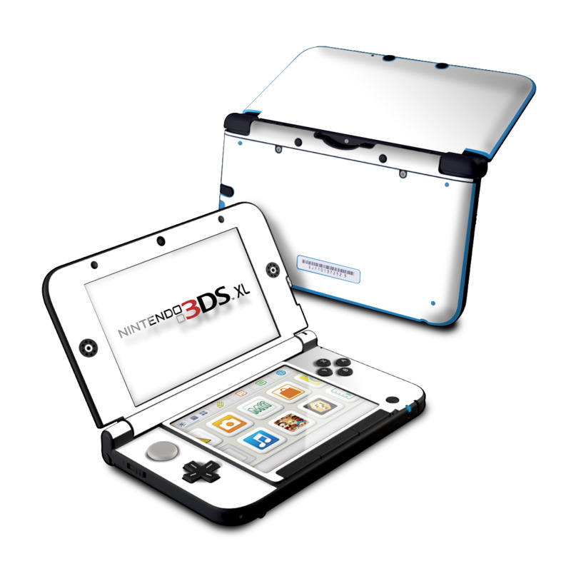 Solid State White Nintendo 3DS XL (Original) Skin