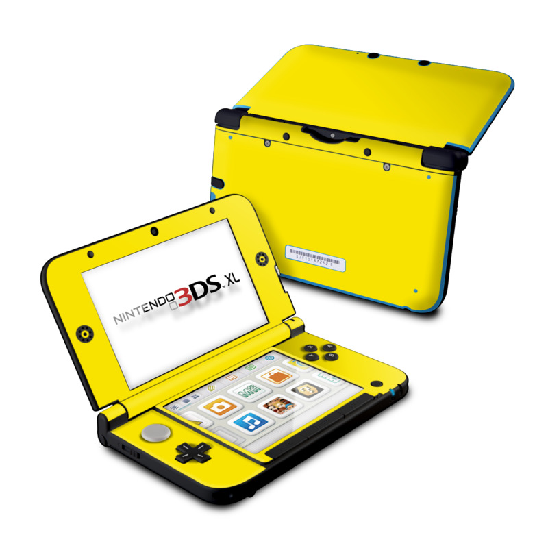 Solid State Yellow Nintendo 3DS XL (Original) Skin