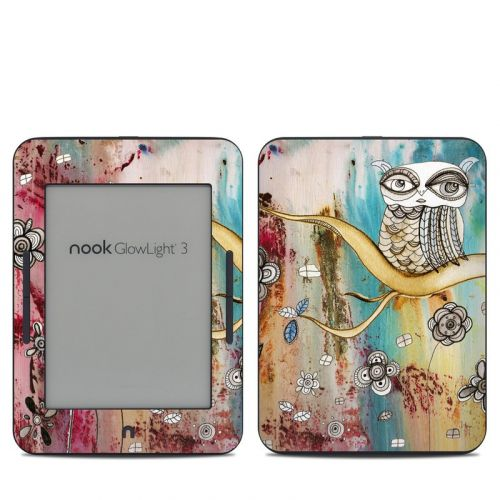 Surreal Owl Barnes & Noble NOOK GlowLight 3 Skin