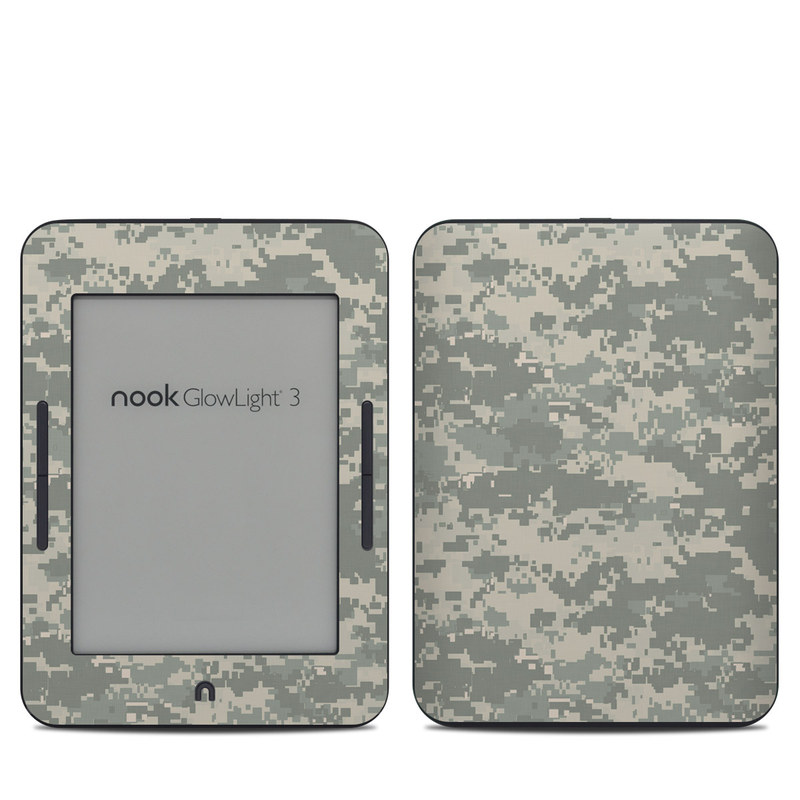 Barnes & Noble NOOK GlowLight 3 Skin design of Military camouflage, Green, Pattern, Uniform, Camouflage, Design, Wallpaper with gray, green colors