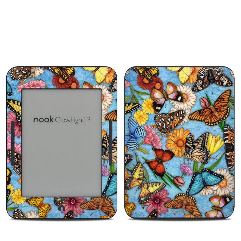 Butterfly Land Barnes & Noble NOOK GlowLight 3 Skin