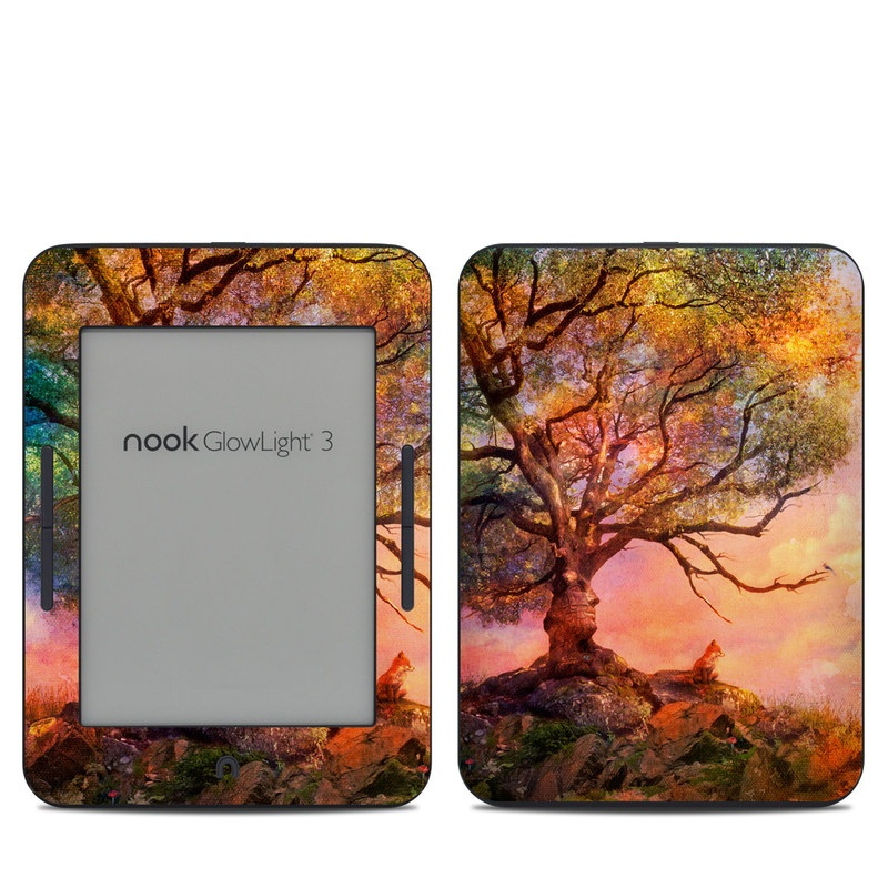 Fox Sunset Barnes & Noble NOOK GlowLight 3 Skin