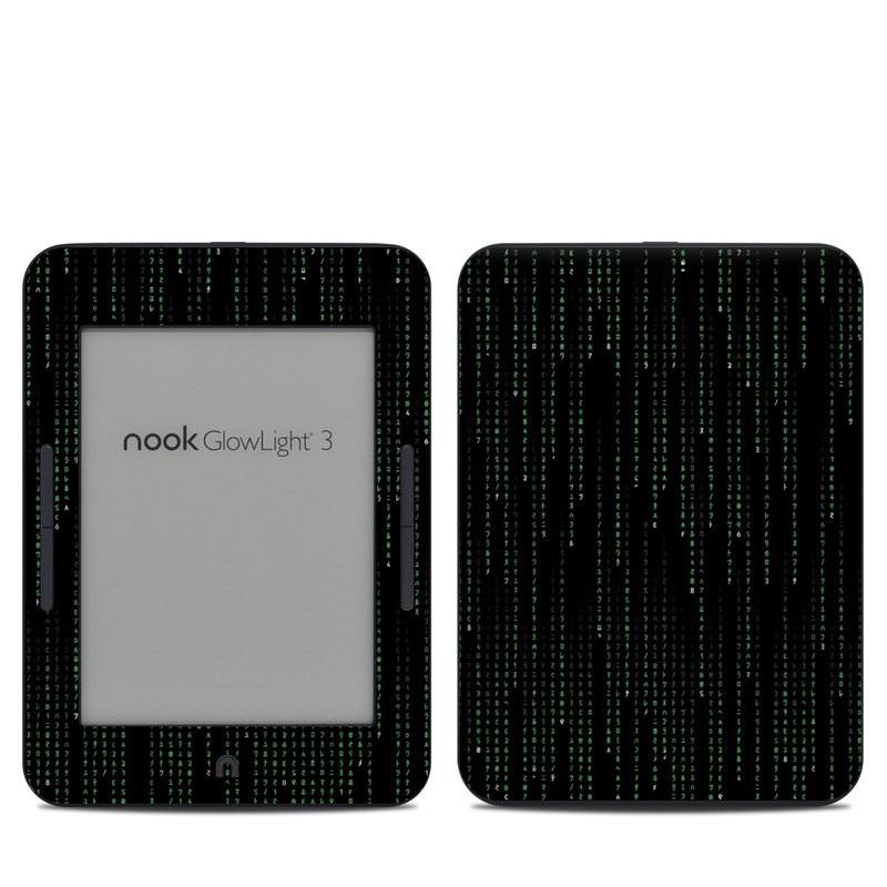 Barnes & Noble NOOK GlowLight 3 Skin design of Green, Black, Pattern, Symmetry with black colors