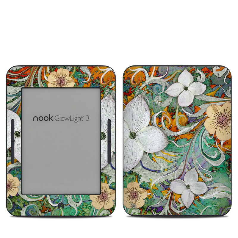 Sangria Flora Barnes & Noble NOOK GlowLight 3 Skin