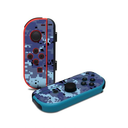 Digital Sky Camo Nintendo Switch Joy-Con Controller Skin