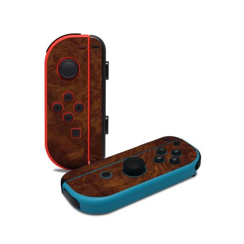Dark Burlwood Nintendo Switch Joy-Con Controller Skin
