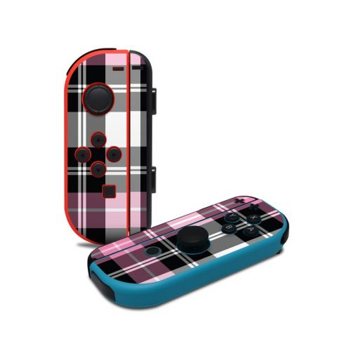 Pink Plaid Nintendo Switch Joy-Con Controller Skin