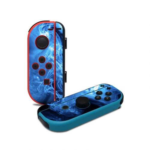 Blue Quantum Waves Nintendo Switch Joy-Con Controller Skin