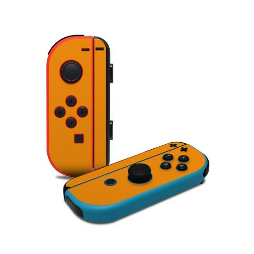 Solid State Orange Nintendo Switch Joy-Con Controller Skin