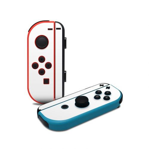 Solid State White Nintendo Switch Joy-Con Controller Skin
