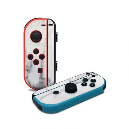White Marble Nintendo Switch Joy-Con Controller Skin