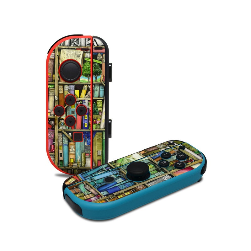 Bookshelf Nintendo Switch Joy-Con Controller Skin