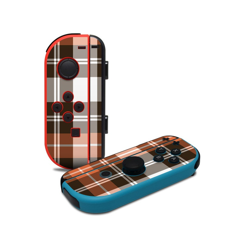 Copper Plaid Nintendo Switch Joy-Con Controller Skin