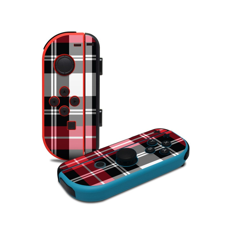 Red Plaid Nintendo Switch Joy-Con Controller Skin
