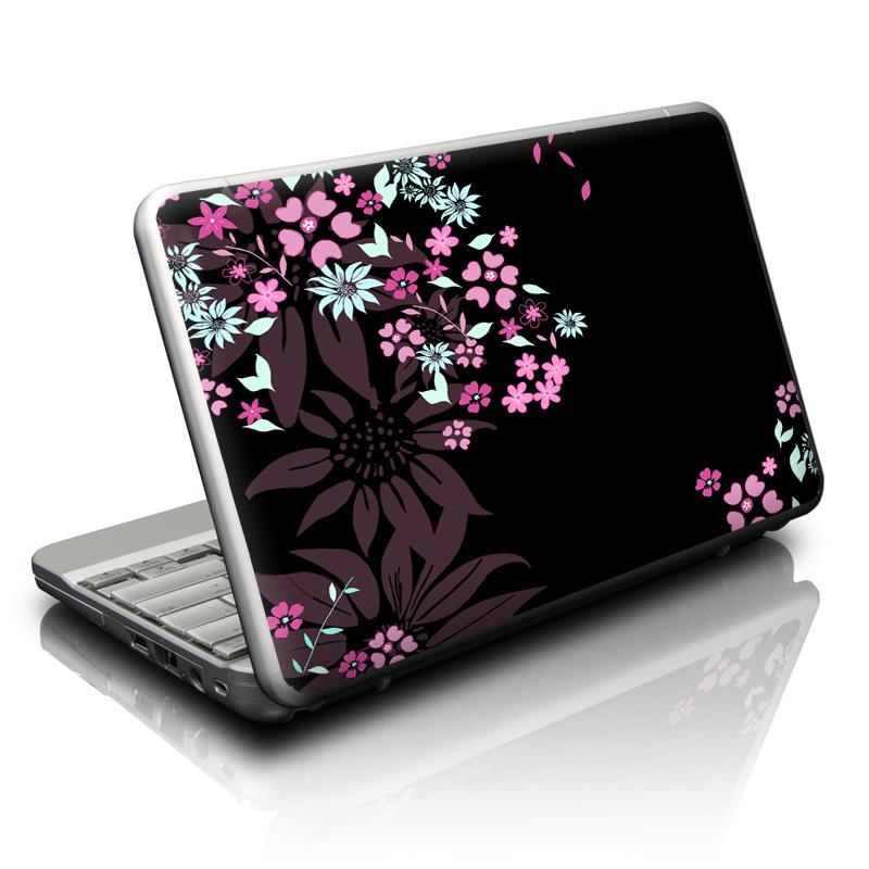 Dark Flowers Netbook Skin