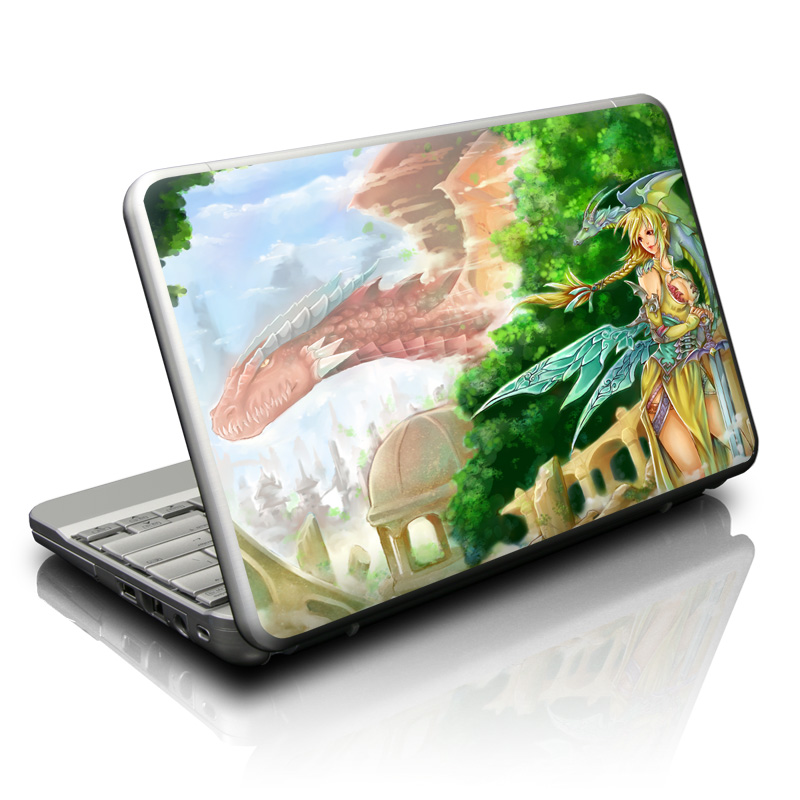 Netbook Skin design of Cg artwork, Anime, Cartoon, Illustration, Fictional character, Mythology, Long hair, Massively multiplayer online role-playing game, Mythical creature, Art with gray, black, green, purple, pink colors