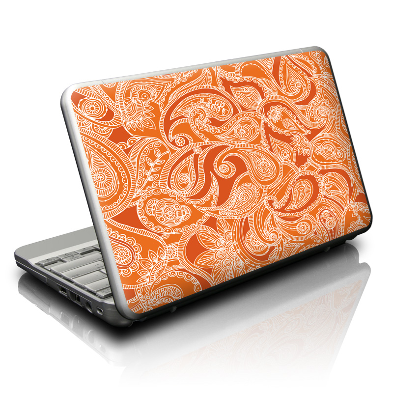 Paisley In Orange Netbook Skin