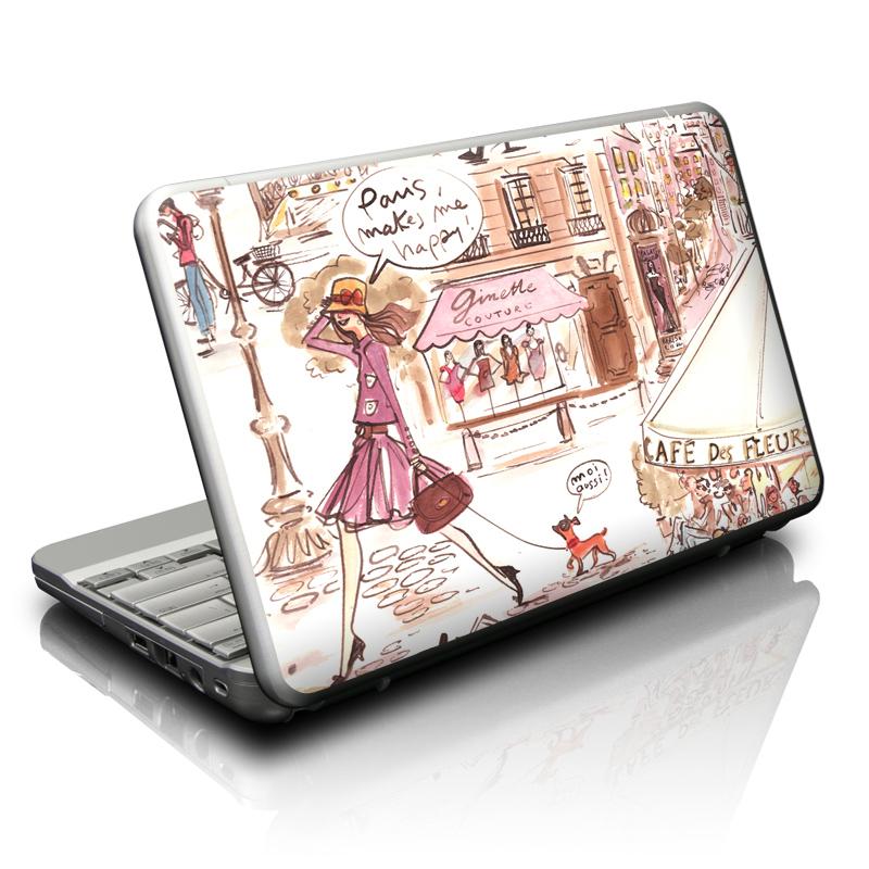 Paris Makes Me Happy Netbook Skin
