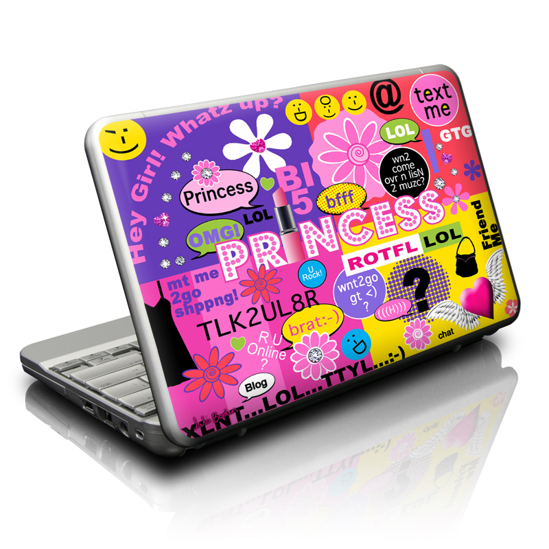 Princess Text Me Netbook Skin