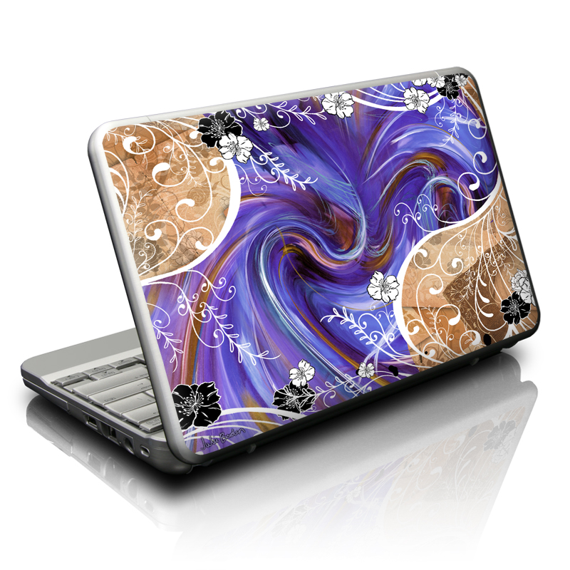 Purple Waves Netbook Skin