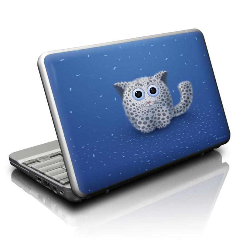 Netbook Skin design of Owl, Snowy owl, Blue, Bird of prey, Sky, Bird, Organism, Snout, Space with blue, gray, black colors