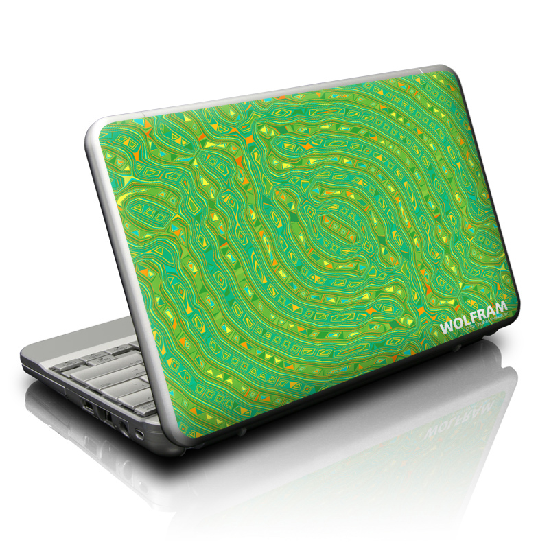 Netbook Skin design of Aqua, Green, Water, Turquoise, Pattern, Teal, Organism with green, blue colors