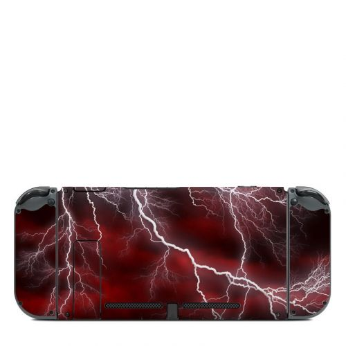 Apocalypse Red Nintendo Switch Back Skin