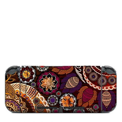 Autumn Mehndi Nintendo Switch Back Skin