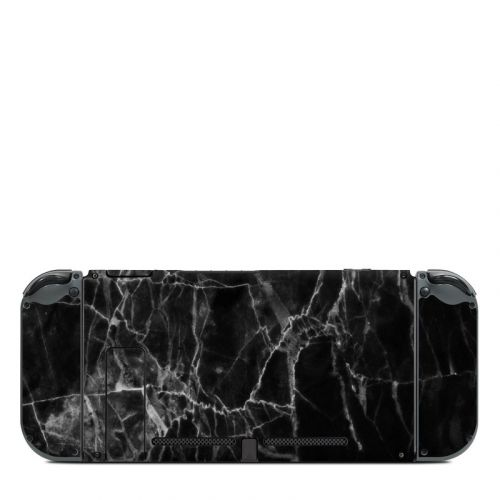 Black Marble Nintendo Switch Back Skin