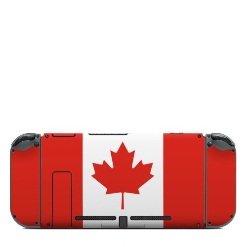 Canadian Flag Nintendo Switch Back Skin