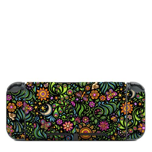 Nature Ditzy Nintendo Switch Back Skin