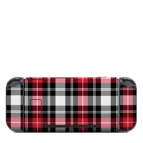 Red Plaid Nintendo Switch Back Skin