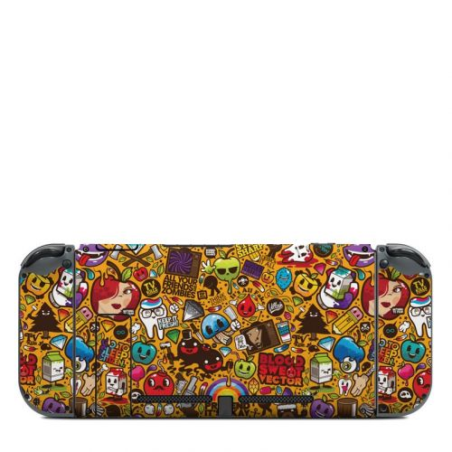 Psychedelic Nintendo Switch Back Skin