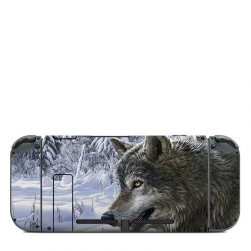 Snow Wolves Nintendo Switch Back Skin