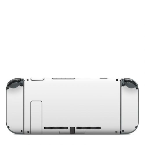 Solid State White Nintendo Switch Back Skin