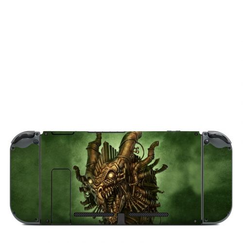 Steampunk Dragon Nintendo Switch Back Skin
