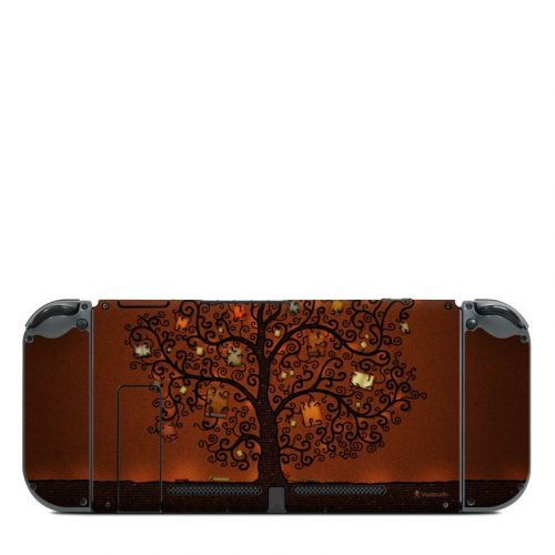 Tree Of Books Nintendo Switch Back Skin