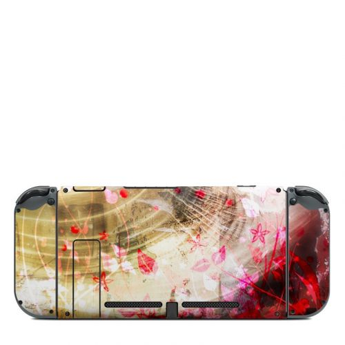 Woodflower Nintendo Switch Back Skin