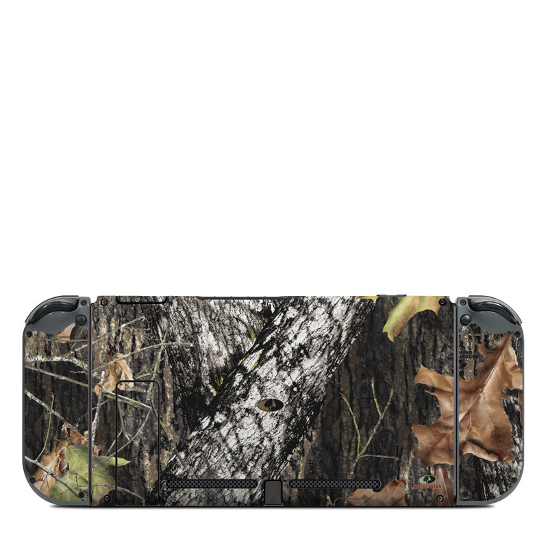 Nintendo Switch Back Skin design of Leaf, Tree, Plant, Adaptation, Camouflage, Branch, Wildlife, Trunk, Root with black, gray, green, red colors