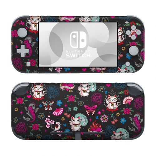 Geisha Kitty Nintendo Switch Lite Skin