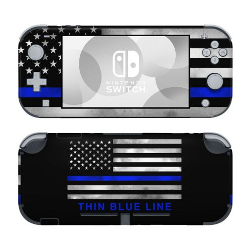 Thin Blue Line Nintendo Switch Lite Skin