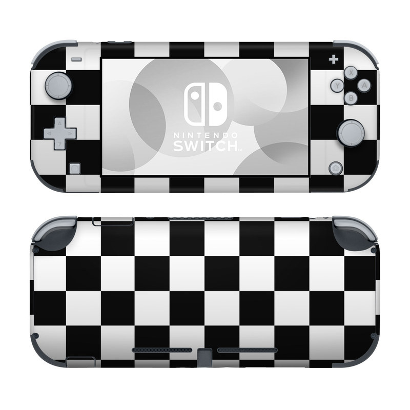 Nintendo Switch Lite Skin design of Black, Photograph, Games, Pattern, Indoor games and sports, Black-and-white, Line, Design, Recreation, Square with black, white colors